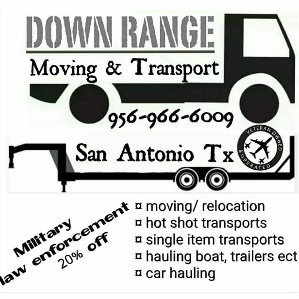 down range movers sign